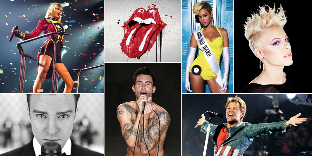 Rock n' Rolling in Gold – The Top 20 Grossing Artists of 2014