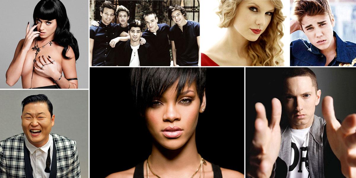 Los 10 artistas que reinan en Youtube