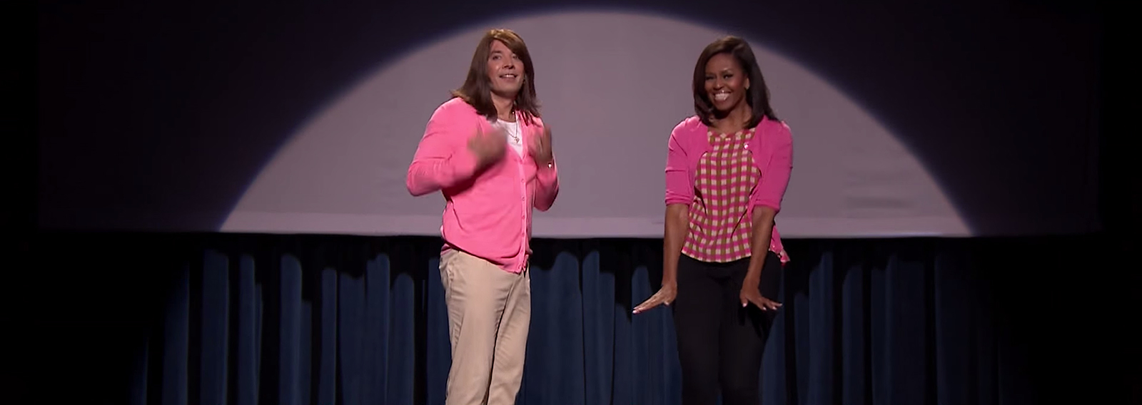Evolution of Mom Dancing Part 2 <br> Michelle Obama &#038; Jimmy Fallon